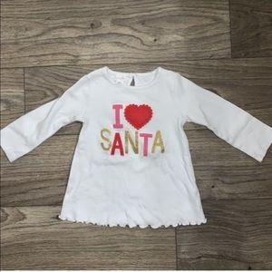Mud Pie I Love Santa Girls Shirt
